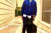 سگ بامزه علی کریمی + عکس