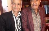 دیدار آقای بازیگر با پدر هنرمند احسان خواجه امیری+عکس