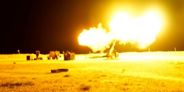 هدف قرار دادن نوار غزه توسط توپخانه رژیمصهیونیستی