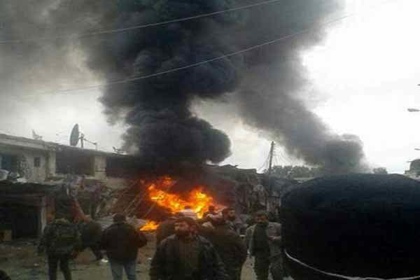 انفجاری مهیب در شرق سوریه