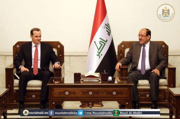 نماینده ویژه ترامپ با 'نوری المالکی' معاون رییس جمهوری عراق دیدار کرد