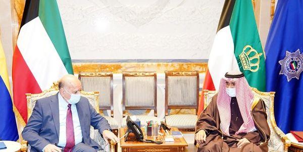 دیدار وزیر خارجه عراق با امیر کویت