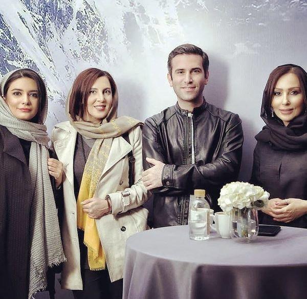 هوتن شکیبا و خانم های بازیگر در یک دورهمی + عکس