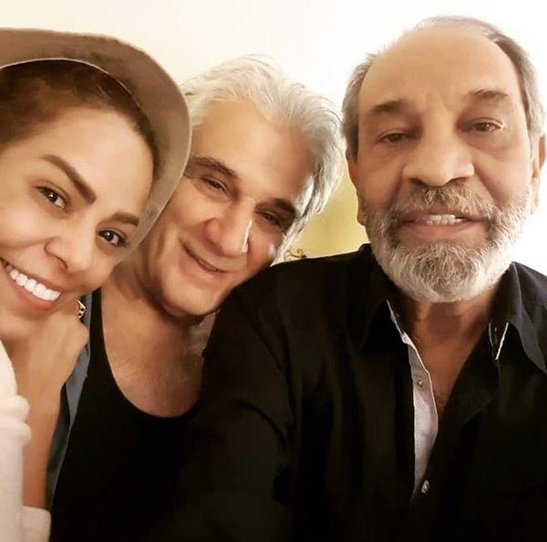 مهدی هاشمی و همسر دومش در کنار کارگردان مشهور + عکس