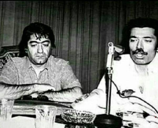 عکس دیدنی از استاد عزت الله انتظامی و علی نصیریان