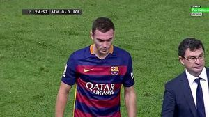 دوری یک ماهه مدافع بارسلونا از میادین