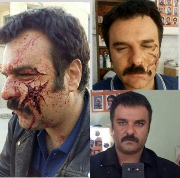 گریم وحشتناک مجید سعیدی + عکس
