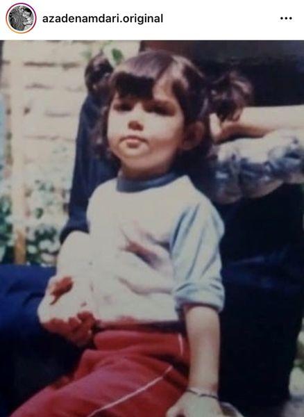 عکس لو رفته از کودکی مرحوم آزاده نامداری
