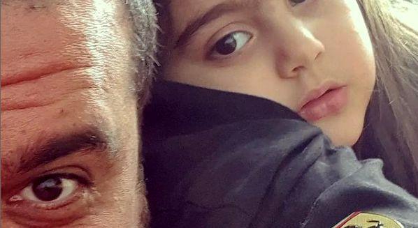 سلفی محسن کیایی با دخترش + عکس
