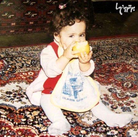 ملیکا شریفی نیا در کودکی + عکس
