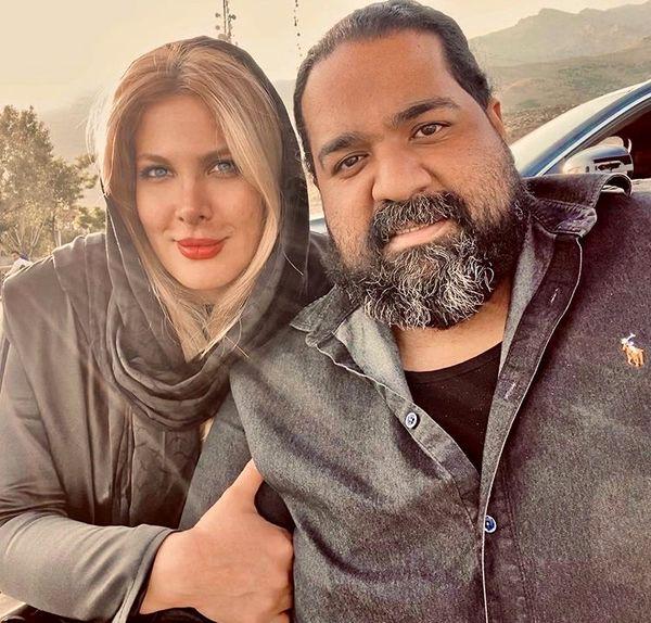 رضا صادقی و همسرش + عکس