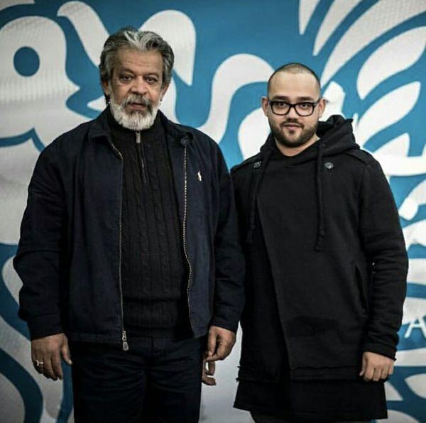 حسن پورشیرازی و پسرش + عکس