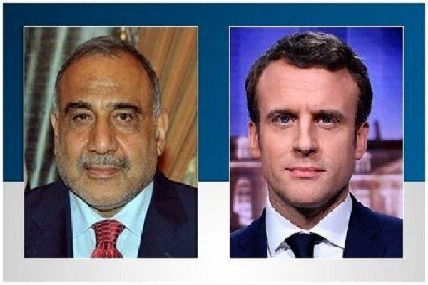 محورهای رایزنی رئیسجمهوری فرانسه با نخستوزیر عراق