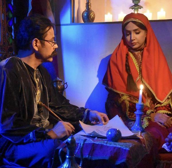 شبنم قلی خانیو آقای بازیگر با لباسهایی قدیمی + عکس