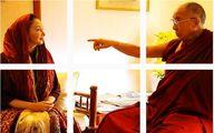 دیدار پر حاشیه کتایون ریاحی با رهبر بوداییان