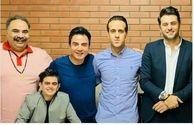 غول برره، علی ضیا، علی کریمی و عمو پورنگ در یک قاب