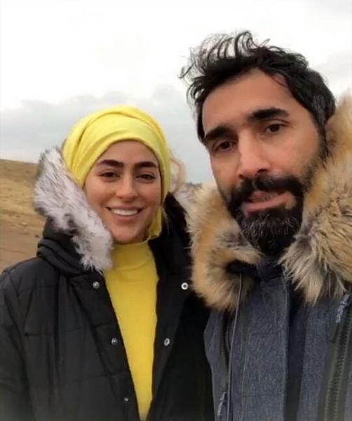 گردش سمانه پاکدل و همسرش در روز پاییزی+عکس