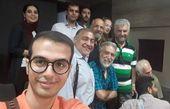 خسرو احمدی با دوستان خانه سینما + عکس