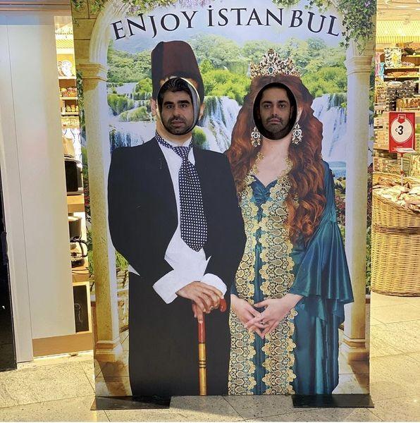 امیر نوری و اشکان اشتیاق در استانبول + عکس