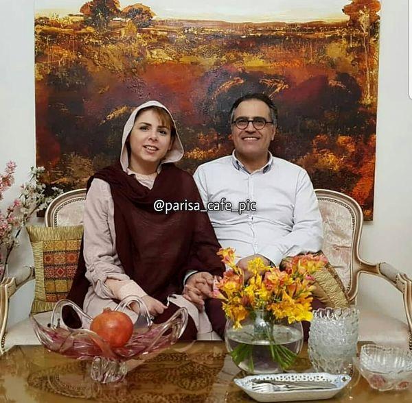 بهزاد خداویسی و همسرش در خانه هنریشان+عکس