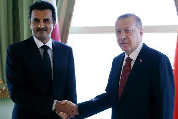 دیدار رئیس جمهوری ترکیه با امیر قطر در استانبول