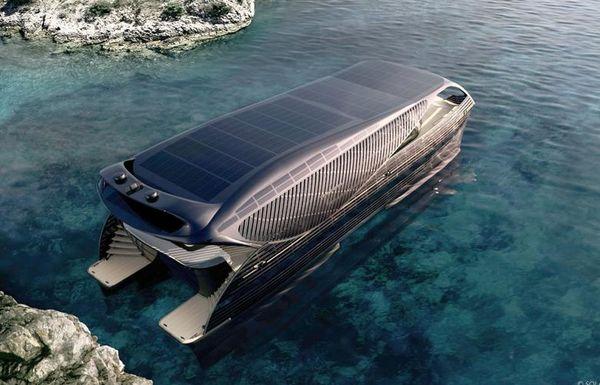 نخستین قایق اقیانوسپیما که فقط از انرژی خورشیدی استفاده میکند