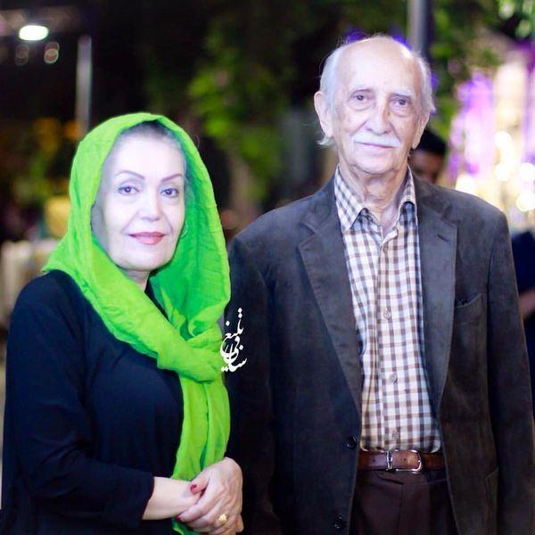 مرحوم داریوش اسدزاده در کنار همسرش + عکس
