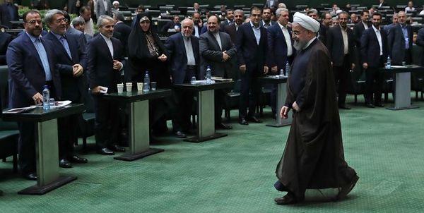 اعتراض شدید نمایندگان مجلس حین سخنرانی رئیس جمهور