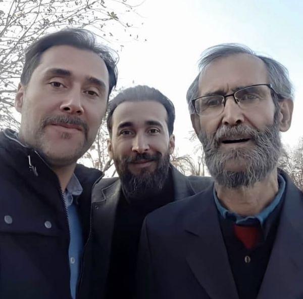 شباهت هادی کاظمی و پدرش + عکس