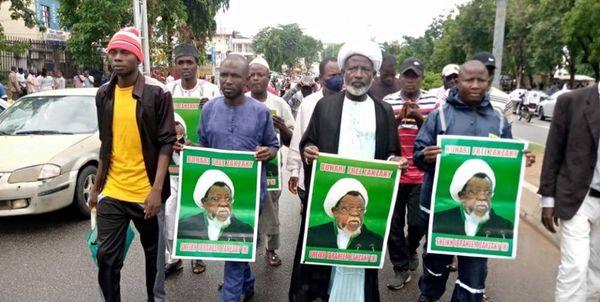 هواداران شیخ زکزاکی راهپیمایی کردند