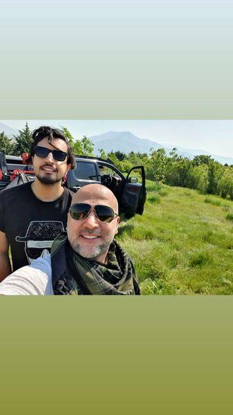 مهرداد صدیقیان و دوستاش در طبیعت زیبا + عکس