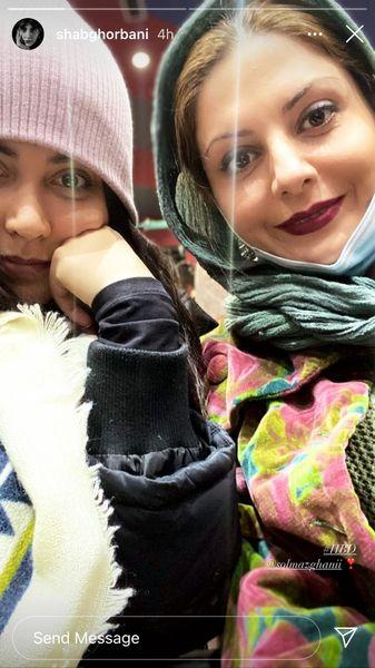 سلفی سولماز غنی با بازیگر ملکه گدایان + عکس