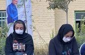 همسر و دختر علی سلیمانی در مراسم چهلمش + عکس