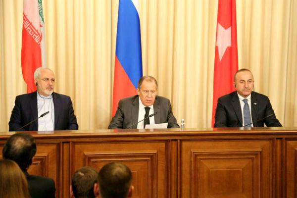 وزرای خارجه ایران، روسیه و ترکیه درباره سوریه دیدار میکنند