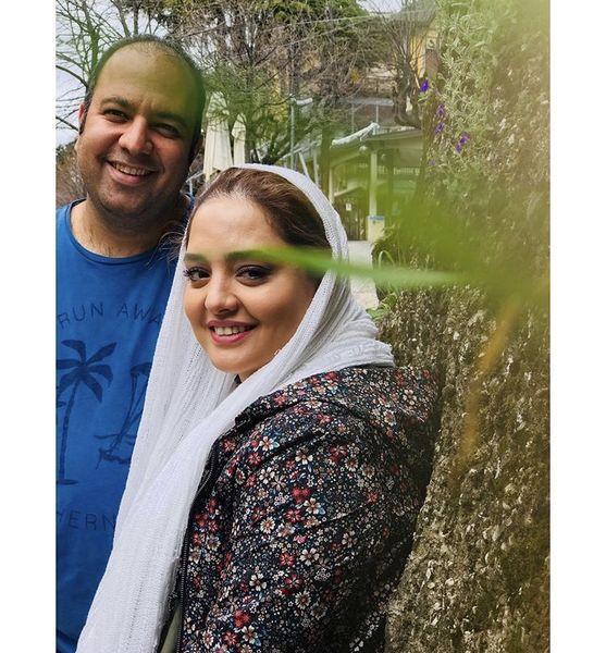طبیعت گردی علی اوجی و همسرش + عکی