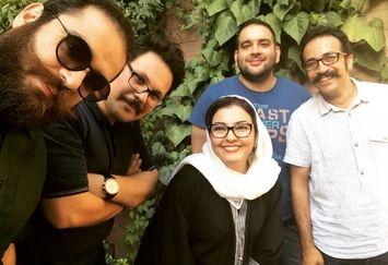 بازیگر زن سریال خانه به دوش در جمع طنازان+عکس