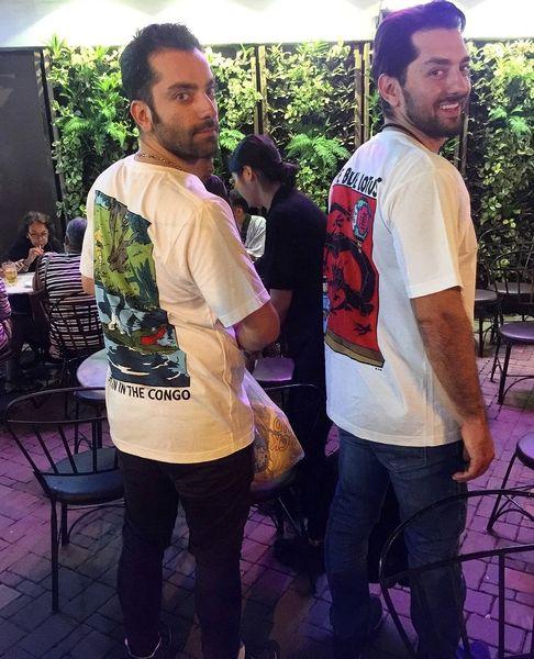 تی شرت متفاوت بهرام رادان و دوستش + عکس