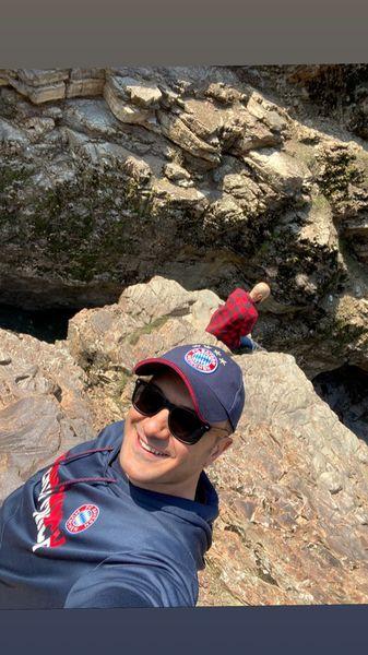 کوهنوردی مجری معروف + عکس