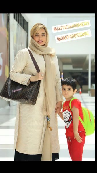تیپ تابستونی سپیده خداوردی و پسر خردسالش + عکس
