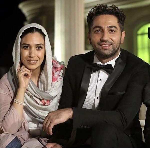 علی سخنگو و همسرش + عکس