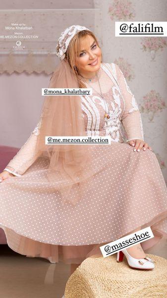 لباس جدید بهاره رهنما برای سالگرد ازدواجش + عکس
