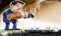 کاریکاتور/ خودکشی با سیگار!!!