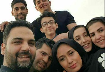 عکس احسان علیخانی و برنده ها در پلدختر