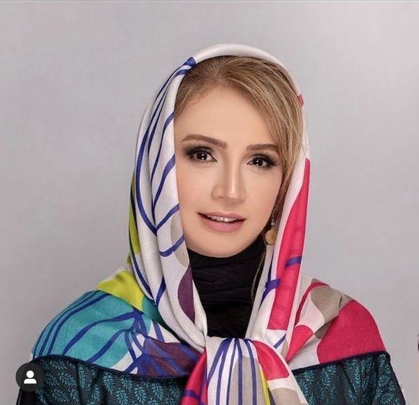 روسری خوشرنگ شبنم قلی خانی + عکس