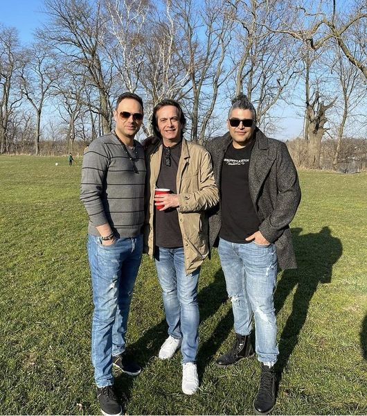 شهروز ابراهیمی در کنار بازیگر مهاجر ایرانی + عکس
