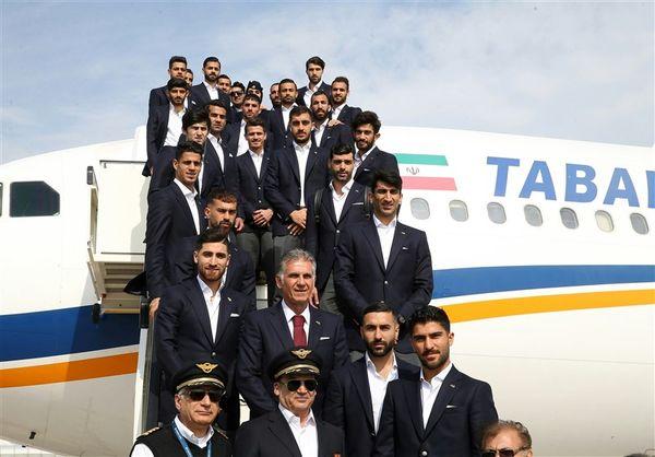تیم ملی فوتبال به ابوظبی رسید