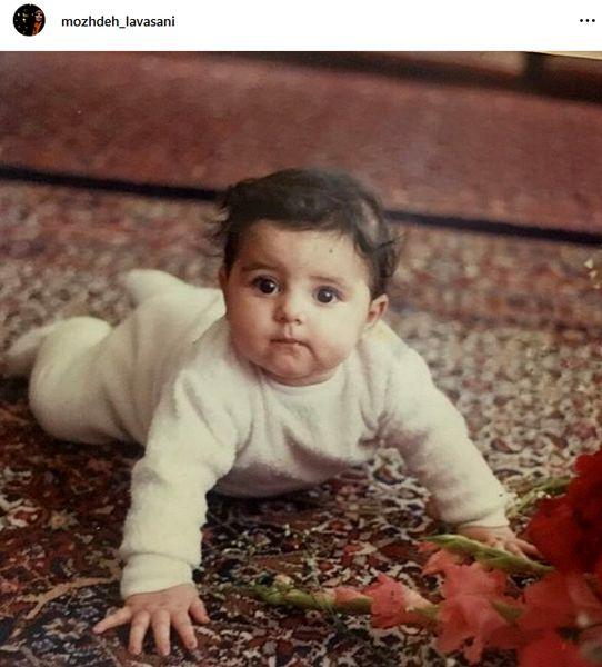 عکس بامزه و دیدنی از بچگی خانم مجری