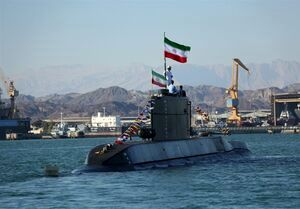 حضور زیردریایی ایرانی فاتح در رزمایش ارتش برای اولین بار
