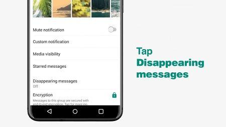 حذف خودکار پیام ها در واتساپ, عکس محو شونده در واتساپ, پیام محو شونده در واتساپ