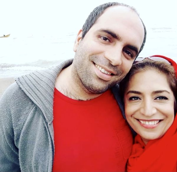 ساناز سماواتی و همسرش + عکس
